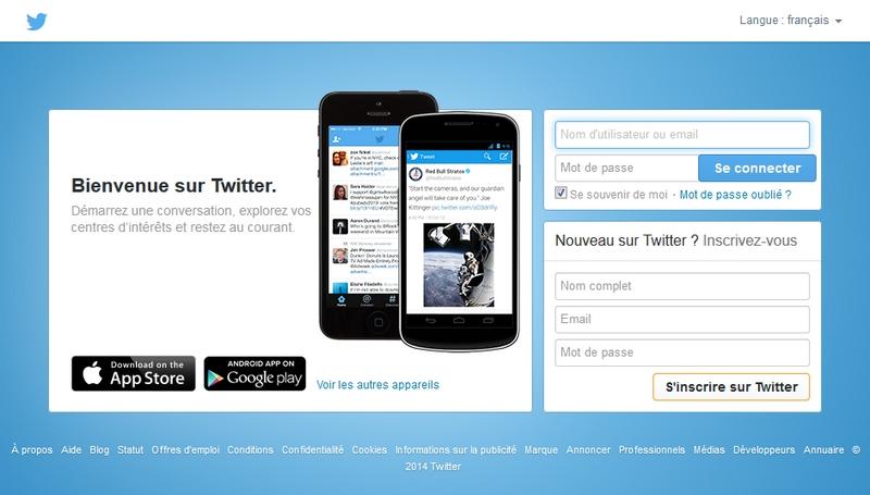 Accueil Twitter